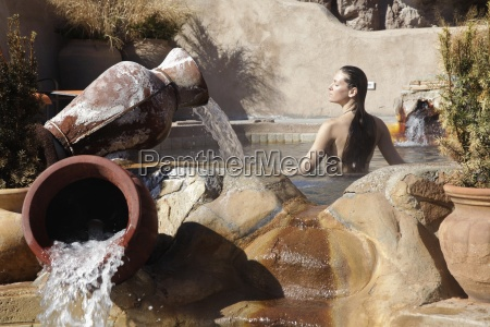 woman in hot tub in the