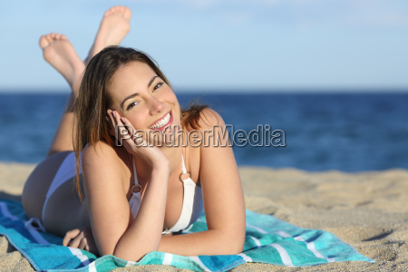 happy woman with white perfect smile