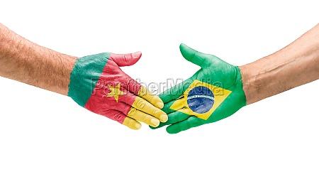 handshake cameroon and brazil