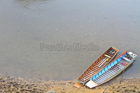 boat wood moor coast river
