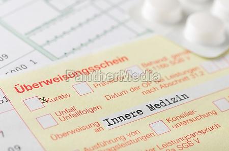 ueberweisungsschein internal medicine
