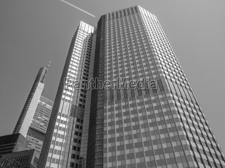 black and white european central bank