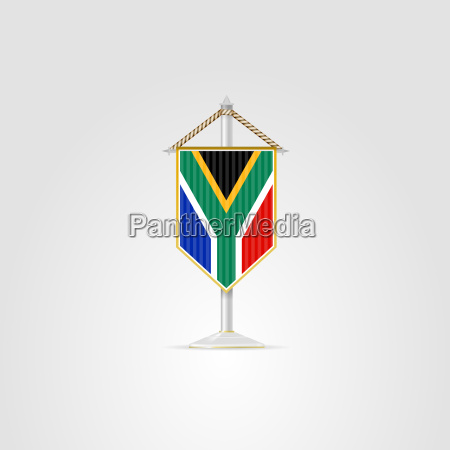 illustration of national symbols of african