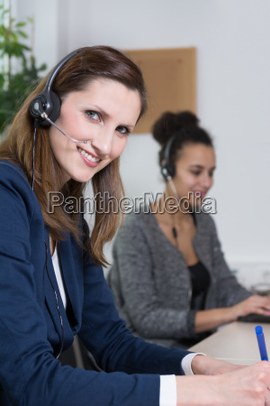two women work in the office