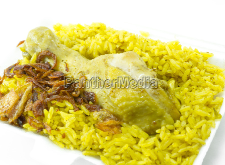 chicken rice curry indian food