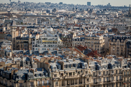 skyline of paris with cityscape on
