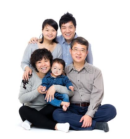 happy, asian, three, generation, family - 11647252