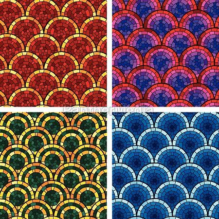 circular brick pattern