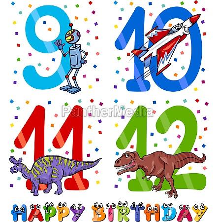 birthday cartoon design for boy
