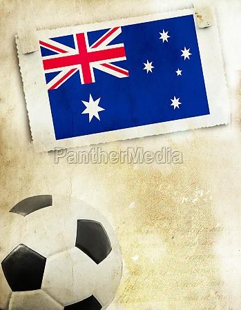 photo of australia flag and soccer