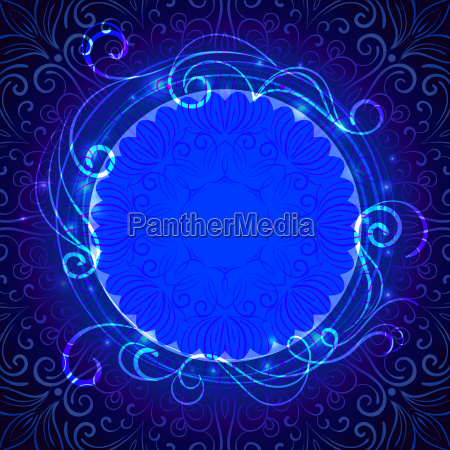 abstract blue mystic lace background with
