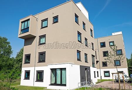 brown modern apartment buildings