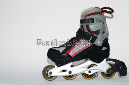 rollerscates mens grey red on white