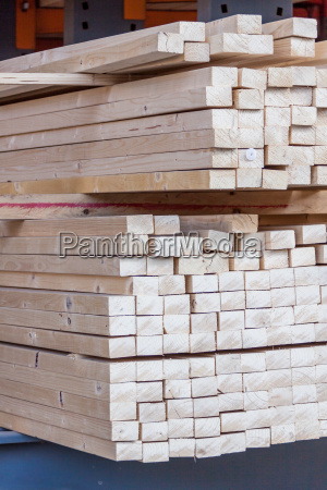 wood panels in stock piled for