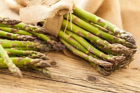 fresh healthy green asparagus as closeup