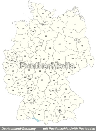 map of germany with postal codes