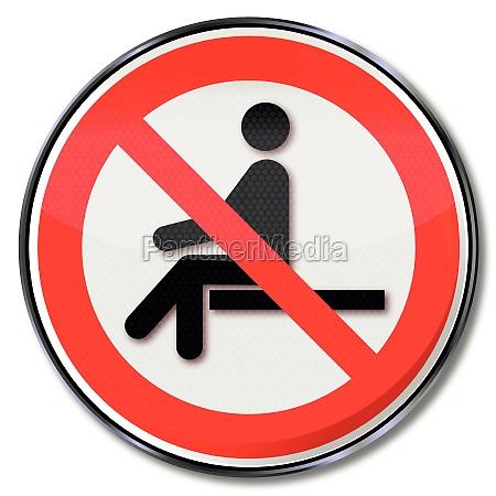 prohibition sign sitting