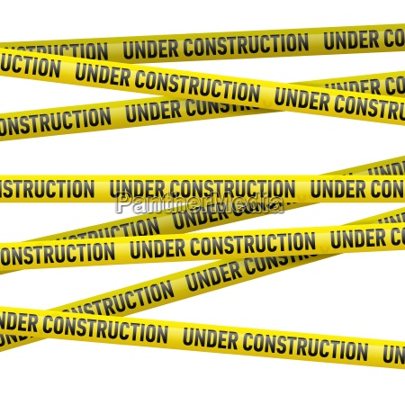 yellow under construction danger tape