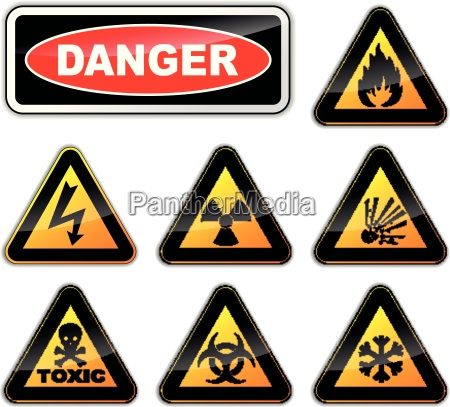 vector danger signs