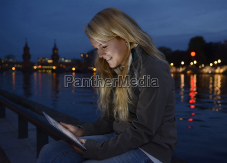 young woman with tablet computer