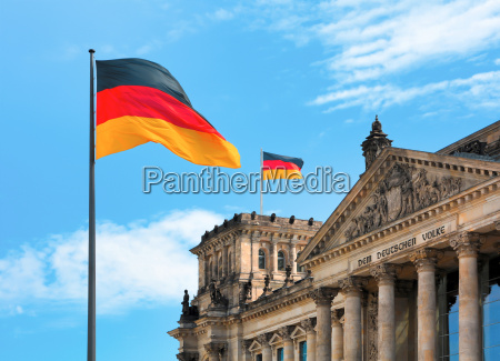 reichstag with flag