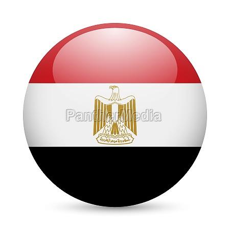 round glossy icon of egypt