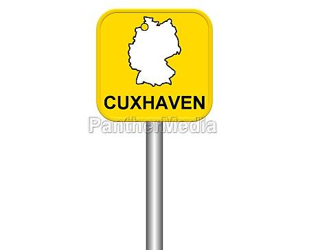 entrance sign cuxhaven
