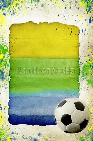 the brazil flag and soccer ball