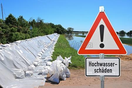 flood on the elbe near magdeburg