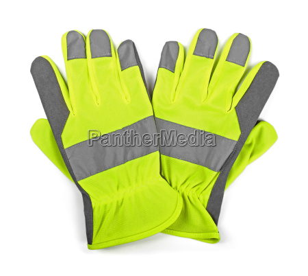 protective work gloves isolated on white