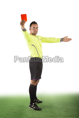 referee with red card optional