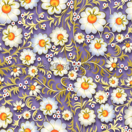 abstract vintage seamless floral ornament with