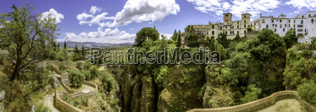 ronda landscape panoramic view a city