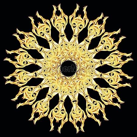 patterned circle