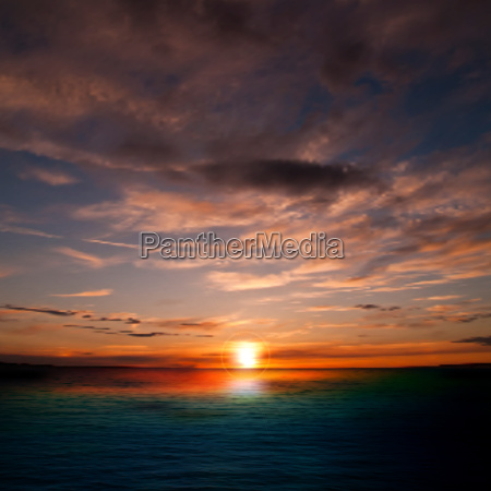 abstract nature background with sunset and