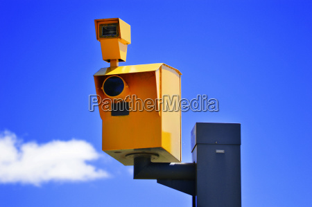 traffic speed camera over the blue