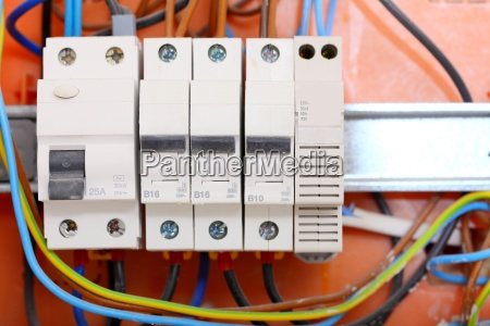 electrical panel box with fuses and