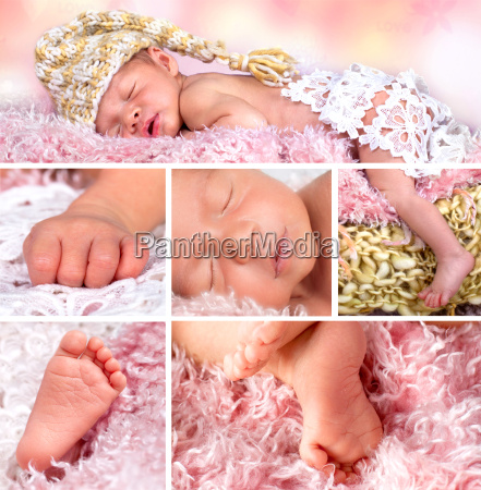 collage newborn baby