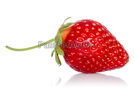 red strawberry with reflection