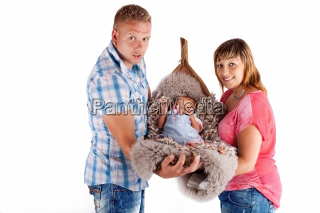 parents with babyisolated