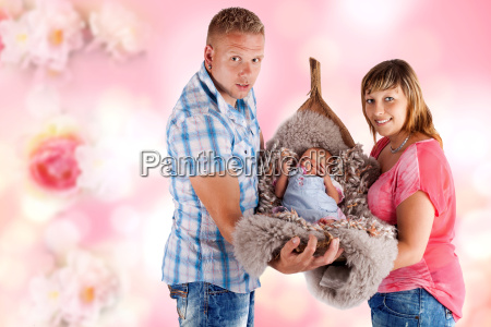 young parents with baby