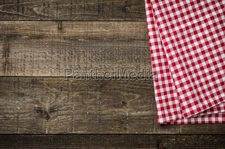 rustic wooden boards with a red