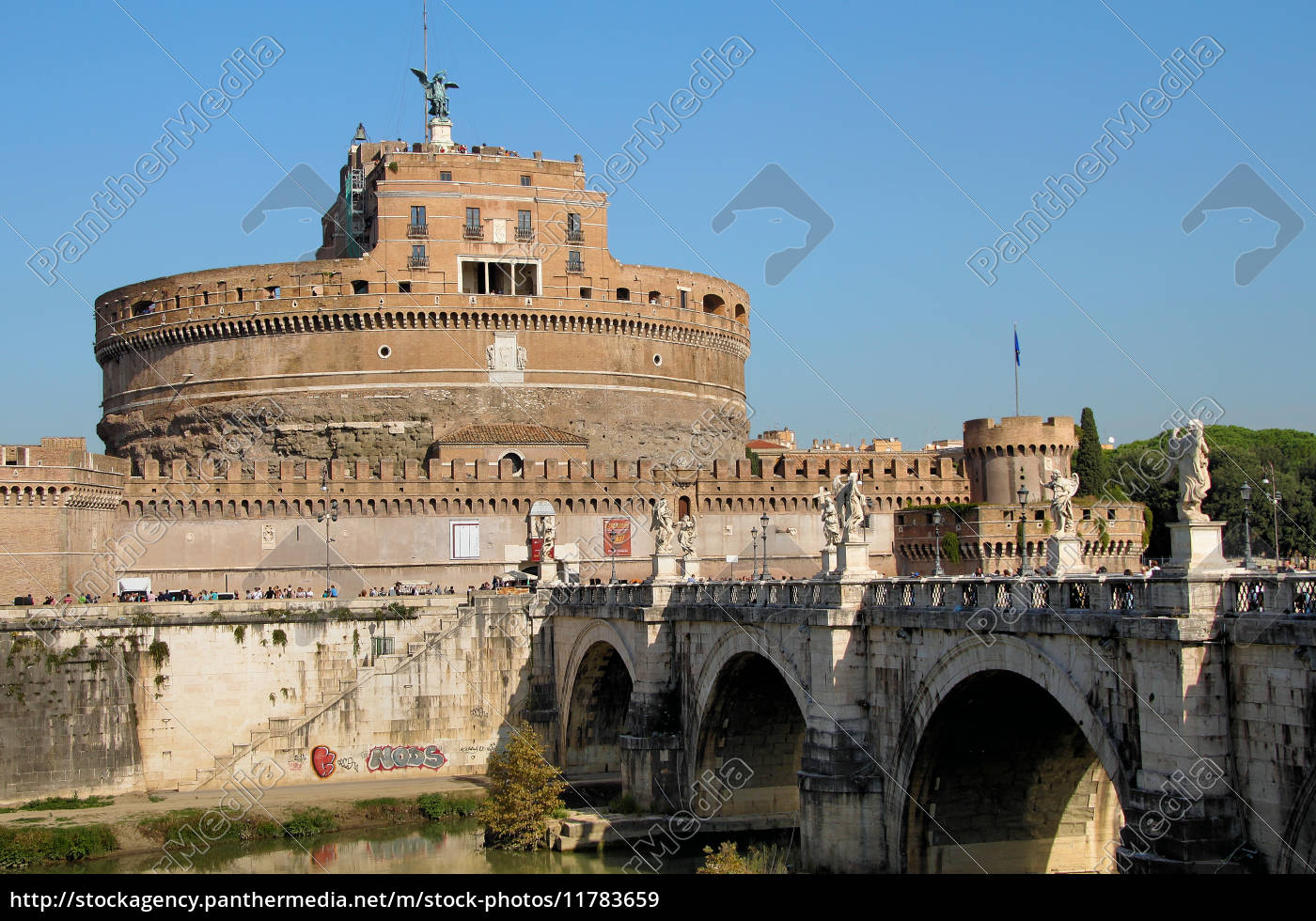 castel, sant'angelo, and, angel, bridge, rome - 11783659