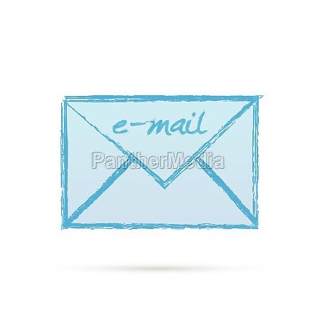 blue e mail letter