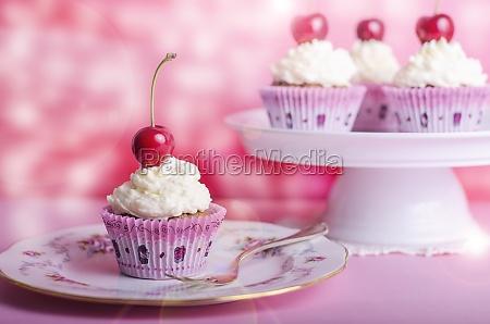 cupcake muffin cherry birthday muffin