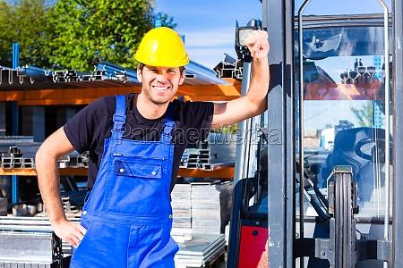 builder with site pallet transporter or