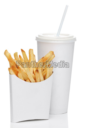 french fries and a cola drink