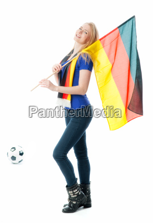 blonder football with germany flag