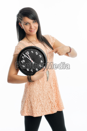 young girl mt wall clock