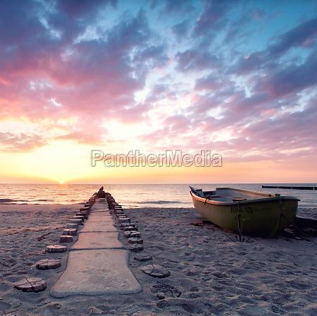 silence on the beach sunset